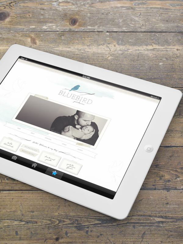 Custom blogsite mockup iPad