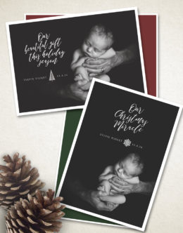newborn announcement, holiday