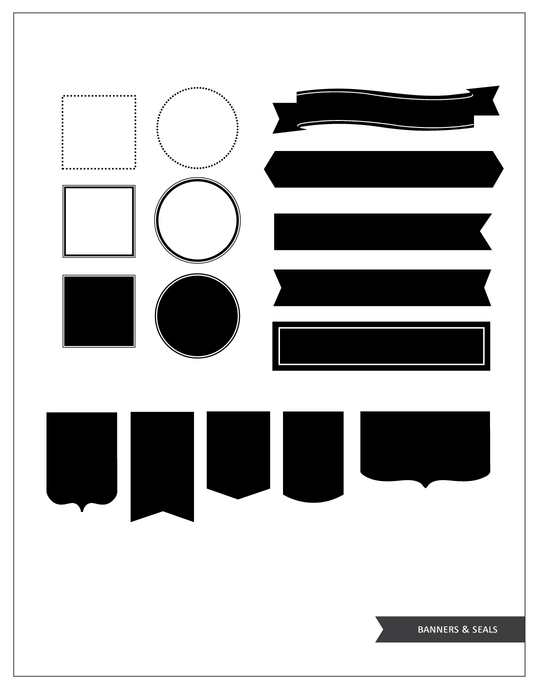 Banners & Labels brush set